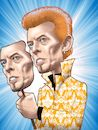 Cartoon: David Bowie (small) by Joshua Aaron tagged david,bowie,thin,white,duke