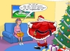 Cartoon: Mistelzweig (small) by Joshua Aaron tagged mistelzweig,kuss,weihnachten,blowjob,santa