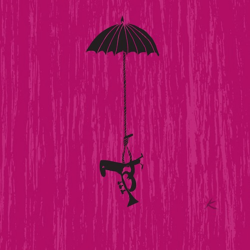 Cartoon: Sombrilla (medium) by Kike Estrada tagged musicos,sombrilla,umbrella,music