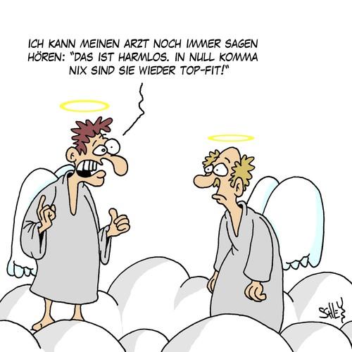 Cartoon harmlos medium by karsten tagged gesundheit leben tod engel