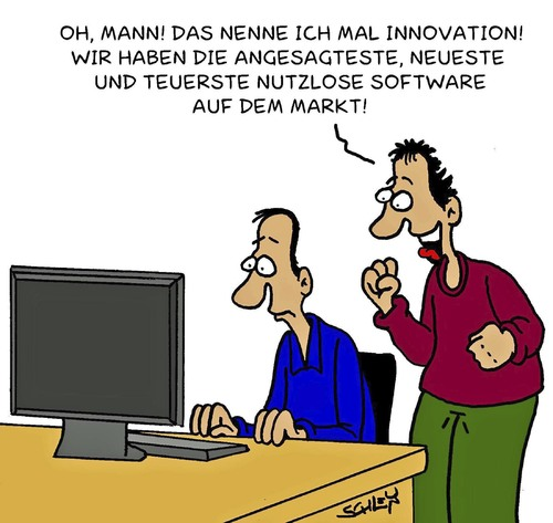 Cartoon: Innovation (medium) by Karsten tagged computer,technik,innovation,software,arbeit,arbeitsplatz,geld,modern,modernität,upgrades,computer,technik,innovation,software,arbeit,arbeitsplatz,geld,modern,modernität,upgrades