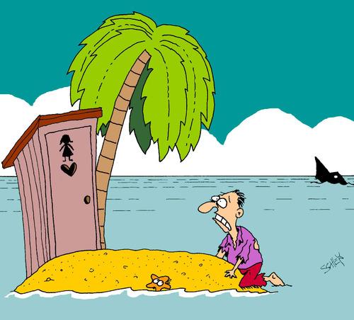 Insel by karsten business cartoon toonpool for Koch auf englisch