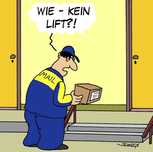 kein lift by karsten business cartoon toonpool. Black Bedroom Furniture Sets. Home Design Ideas