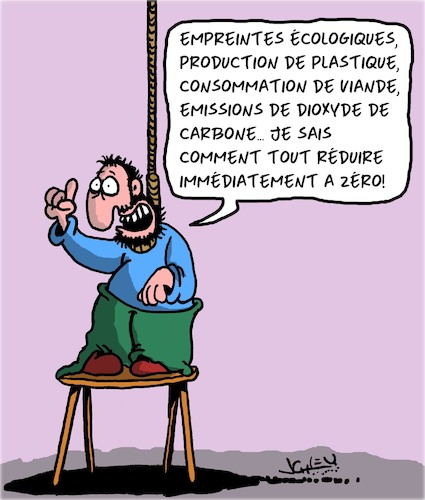 Cartoon: Sauver la planete (medium) by Karsten tagged environnement,climat,industrie,consommateurs,viande,plastique,emissions,environnement,climat,industrie,consommateurs,viande,plastique,emissions