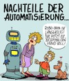 Cartoon: Automatisierung (small) by Karsten tagged technologie,roboter,familien,kommunikation,humanität,computer