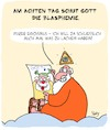 Cartoon: Blasphemie!! (small) by Karsten tagged religion,christentum,judentum,islam,buddhismus,blasphemie,gott,humor,karikaturen,gesellschaft