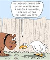 Cartoon: Chien de Combat (small) by Karsten tagged chiens,oies,animaux,noel,veterans,alimentation,comportement,social,societe