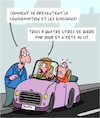 Cartoon: Consommation et emissions (small) by Karsten tagged voitures,trafic,environnement,consommation,emissions,femmes,hommes,technologie