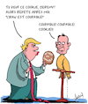 Cartoon: Coupable! (small) by Karsten tagged donald,trump,jeremy,hunt,moyen,orient,iran,politique,arabie,saoudite,guerre,business