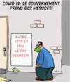 Cartoon: Covid 19 Mesures (small) by Karsten tagged gouvernement,politique,covid19,sante,economie,societe