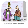 Cartoon: Der Weg... (small) by Karsten tagged religion,kirche,pfarrer,katholizismus,glaube,bibel,jobs,abendmahl