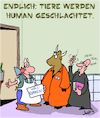 Cartoon: Endlich (small) by Karsten tagged tiere,zucht,schlachttiere,tierhaltung,fleisch,ernährung,gesundheit,natur,tierschutz,humanität,gesellschaft