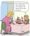 Cartoon: Happy Eastern (small) by Karsten tagged eastern,eggs,bunnies,families,children,diy,religion,christianity,seasonal,holidays