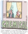 Cartoon: Harmless! (small) by Karsten Schley tagged chemistry,industry,accidents,economy,environment,employers,employees,safety
