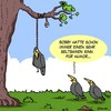 Cartoon: Humor (small) by Karsten tagged umwelt,wald,tiere,planet,erde,natur,humor,leben,tod