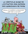 Cartoon: La Verite! (small) by Karsten tagged extinction,animaux,nature,environnement,climat,viande,nutrition,consommateurs
