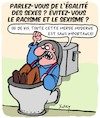 Cartoon: Langue (small) by Karsten tagged sexisme,racisme,langue,diversite,respect,politique,education,medias,societe
