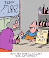 Cartoon: Legal Age (small) by Karsten tagged age,spirits,sales,law,restrictions,men,women,business,economy