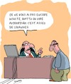 Cartoon: Louanges (small) by Karsten tagged carriere,bureau,superieurs,personnel,direction