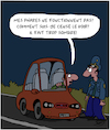 Cartoon: Obscurite (small) by Karsten tagged trafic,voitures,saisons,technologie,gendarmes