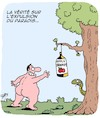 Cartoon: Paradis (small) by Karsten tagged religion,alcool,mythes,hommes,paradis,expulsion,verite