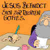 Cartoon: Rechts (small) by Karsten tagged religion,christentum,gott,jesus,bibel,glaube,mythen,ostern,aberglaube,kirche