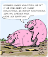 Cartoon: Schweine! (small) by Karsten tagged politik,koalitionen,politiker,menschheit,verhandlungen,tiere,fortpflanzung,schweine,landwirtschaft,gesellschaft