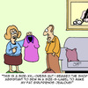 Cartoon: Size Matters (small) by Karsten tagged women,fashion,health,weight,overweight,families,marriage,friendship,relationships