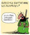 Cartoon: Tres drole (small) by Karsten Schley tagged justice,legislateurs,politique,europe,terrorisme,immigration,religion,islamisme,musulmans,societe,valeurs