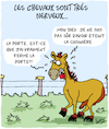 Cartoon: Tres Nerveux (small) by Karsten tagged chevaux,nervosite,animaux,nature,psychisme