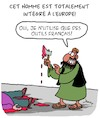 Cartoon: Un vrai European (small) by Karsten tagged musulmans,terrorisme,extremisme,religion,economie,medias,politique