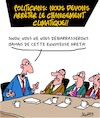 Cartoon: Unanimite (small) by Karsten tagged politicians,changement,climatique,environnement,greta,industrie,profit