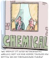 Cartoon: VÖLLIG harmlos! (small) by Karsten Schley tagged chemie,unfälle,industrie,business,wirtschaft,verharmlosung,arbeitgeber,arbeitnehmer,arbeitssicherheit,gesellschaft,umwelt