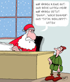 Cartoon: Weihnachten 2017 (small) by Karsten tagged weihnachten,feiertage,weihnachtsmann,listen,geschenke,winter,elfen,religion,christentum