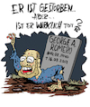 Cartoon: WIRKLICH tot? (small) by Karsten tagged george,romero,zombies,filme,hollywood,kunst,monster,horror,kult,regisseure,kultur