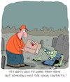 Cartoon: Work from Home (small) by Karsten tagged work,jobs,economy,social,issues,zombies,media,films,myths,legends,coronavirus,restrictions,politics