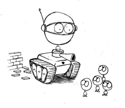 Armoured tank of peace and love By urbanmonk | Politics ...