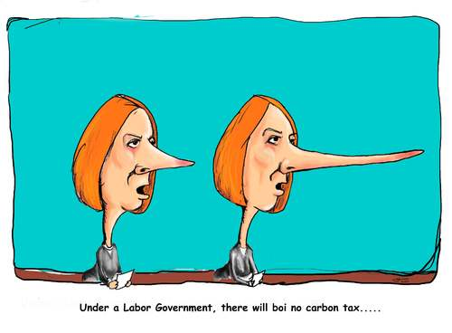 Cartoon: Julia Gillard (medium) by urbanmonk tagged politics