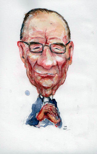 Cartoon: Rupert (medium) by urbanmonk tagged rupert,murdoch,media,empire,phone,hacking,scandal