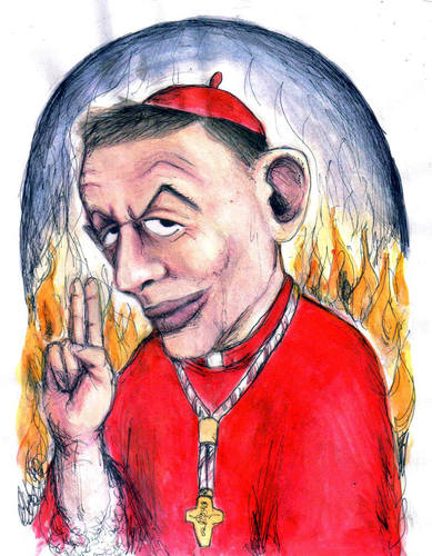 Cartoon: The Abbott (medium) by urbanmonk tagged politics,religion