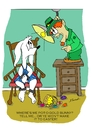 Cartoon: Easter Bunny Kidnapping (small) by Brian Ponshock tagged easter easterbunny leprechaun