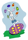 Cartoon: Egg Juggler (small) by Brian Ponshock tagged easter eggs juggling bunny