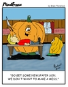 Cartoon: MINDFRAME (small) by Brian Ponshock tagged pumpkin,jack,lantern,halloween