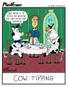 Cartoon: MINDFRAME (small) by Brian Ponshock tagged cows,tips,restaurant,dinner