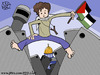Cartoon: Palestinian (small) by sabaaneh tagged palestinian