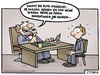 Cartoon: tschüssi (small) by Steffen Gumpert tagged job,boss,crisis,arbeitslos,chef,krise,entlassung,stellenabbau