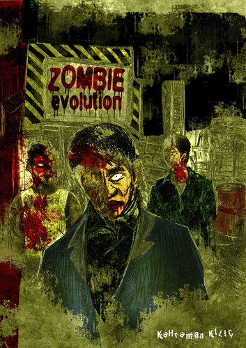 Cartoon: zombie evolution (medium) by kahramankilic tagged photoshop,illustration,zombie,drawing
