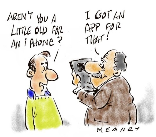 Cartoon: Communication For The Elderly (medium) by John Meaney tagged phone,age,old,communicate