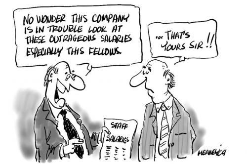Overpaid By John Meaney | Politics Cartoon | TOONPOOL