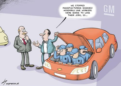 Cartoon crisis hits auto industry medium by rodrigo tagged auto
